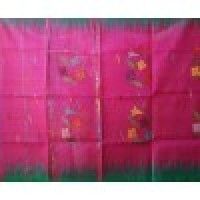 Pink design saree